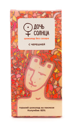 Шоколад на пекмезе с черешней, 60%. Дочь Солнца, плитка 70 г