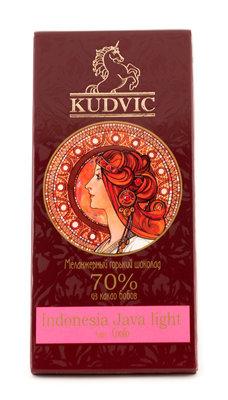 Ремесленный шоколад из какао-бобов Indonesia Java Light, горький 70%. Кудвик, плитка 100 г